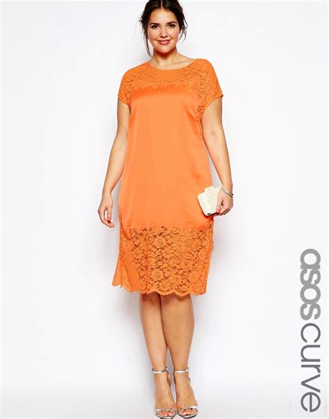 Asos Curve Asos Curve asos curve asos curve sheath dress with lace at asos