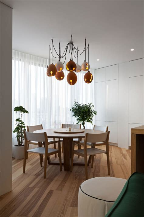 unique dining room lighting fixtures minimal apartment in kiev has a lot to show