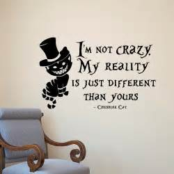Wall 2 Wall Stickers in wonderland wall sticker cheshire cat quotes vinyl decals room wall