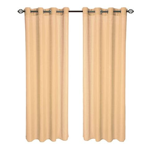 curtain t lavish home gold olivia jacquard grommet curtain panel