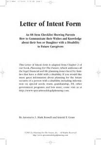 Letter Of Intent Template by The Letter Of Intent
