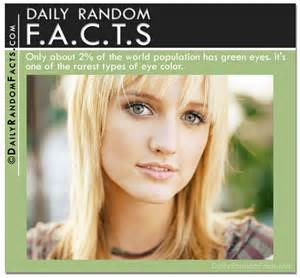 facts about green green eyes