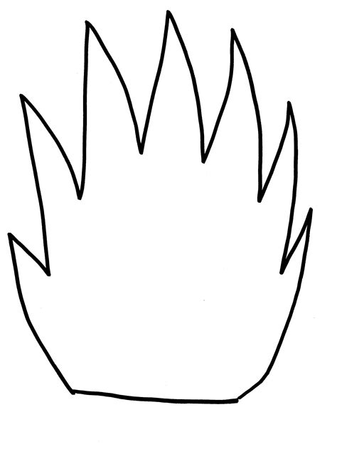 template of flames best photos of paper flames template flames cut out of safety