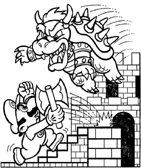 mario bros coloring pages learn to coloring