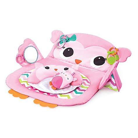 owl play time ii prop play tummy time owl mat in pink buybuy baby
