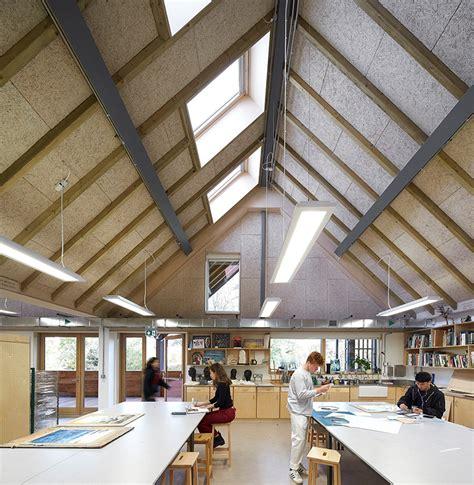 architect and design feilden clegg bradley creates sunlit studios for art and