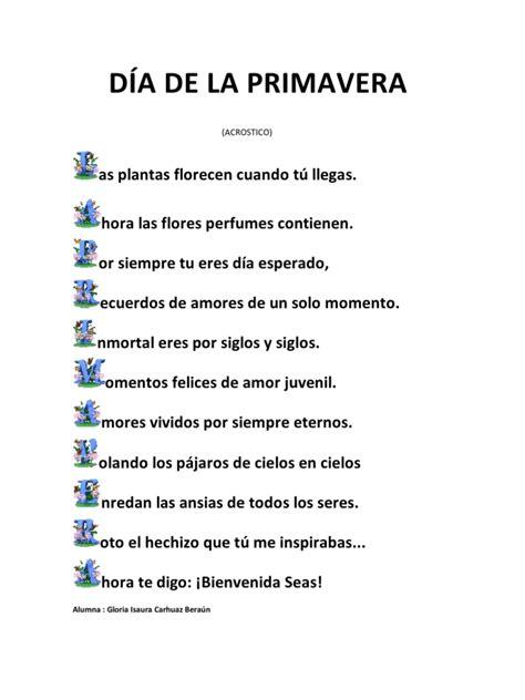 acrostico de la palabra en ingles espanol acrostico