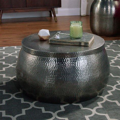 Cala Hammered Coffee Table   World Market