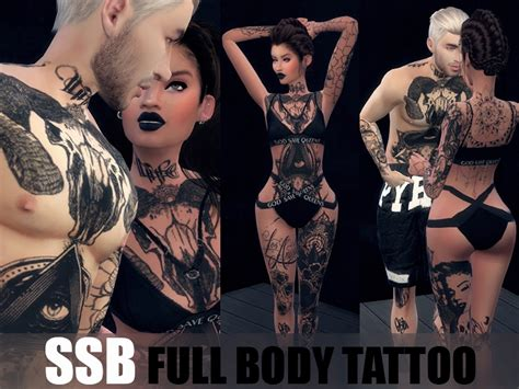 body tattoo download savagesimbaby s hxc full body tattoo v1