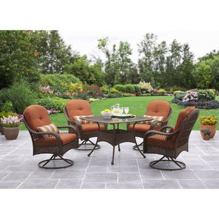 walmart better homes and gardens furniture better homes and gardens azalea ridge 5 patio dining set seats 4 walmart