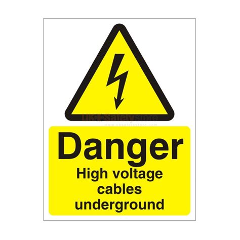 high voltage construction standards danger high voltage cables underground safety sign