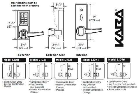 Simplex L1011 Cylindrical Lock Combination Entry Only Simplex Lock Simplex L1000 Template