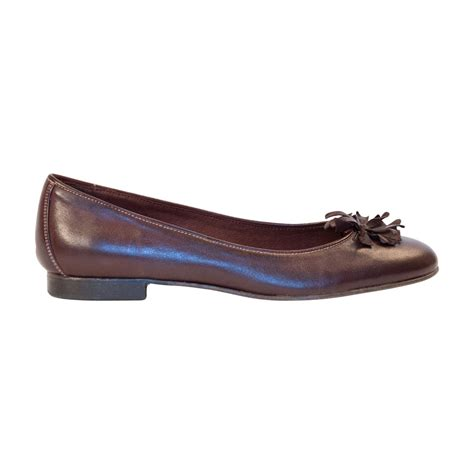 brown leather flat shoes darcy brown nappa leather ballerina flat paolo shoes