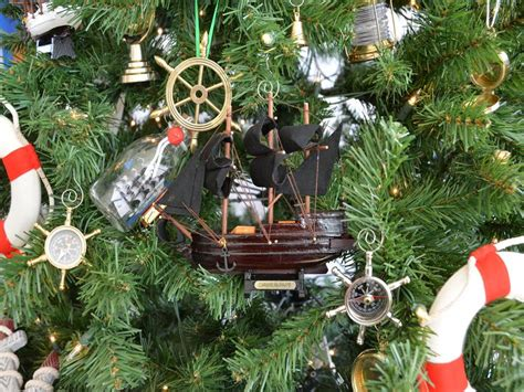 oak island christmas ornament buy wooden caribbean pirate ship model tree ornament wholesa