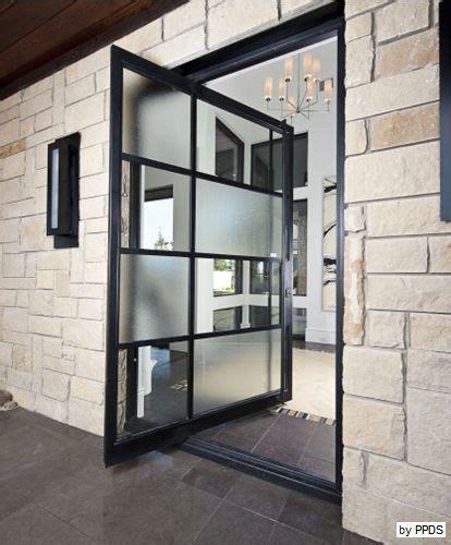 Cool Designer Plunket Pivet by Metal And Glass Pivot Door Accent On Design