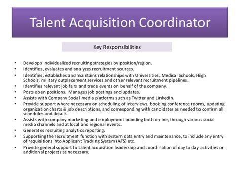 workflow coordinator description talent acquisition coordinator workflow