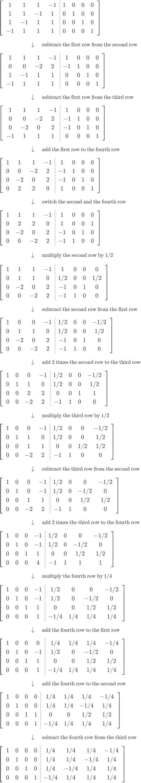 A simple example of inverting a 4x4 matrix using Gauss ... C- 4x4 Matrix Inverse
