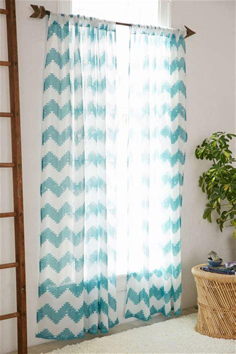turquoise chevron curtains turquoise geo chevron gauze curtain everything turquoise