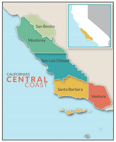 california map central coast california central coast