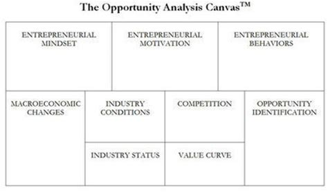 the opportunity analysis canvas for student entrepreneurs books the opportunity analysis canvas entrepreneurs