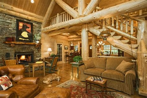 Log Home Living Rooms by Log Home Edenfield Traditional Living Room Other
