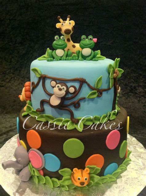 Animal Baby Shower Cakes by Baby Shower Cakes On Jungle Animals Baby