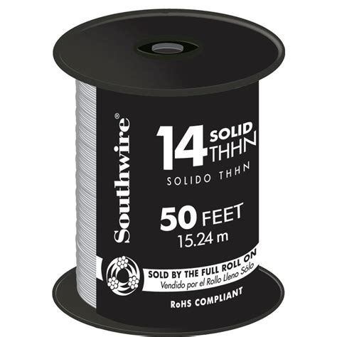 southwire 50 ft 14 white solid cu thhn wire 11580841