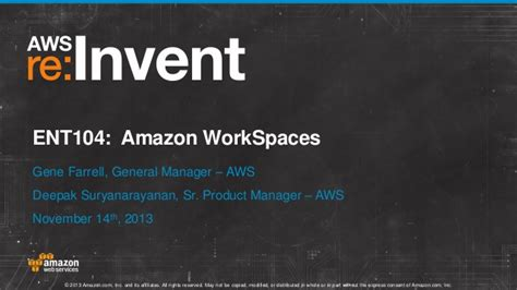amazon workspaces amazon workspaces desktop computing in the cloud ent104