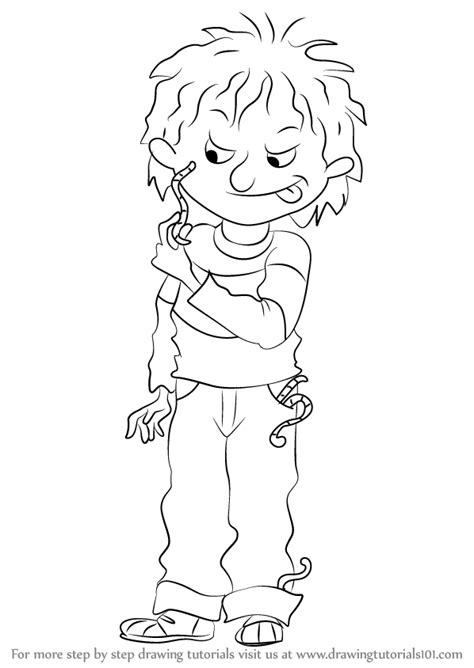 horrid henry free colouring pages