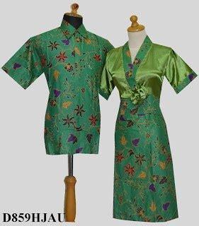 Dress Hijau 03 baju batik modern wanita pria sarimbit terbaru design bild