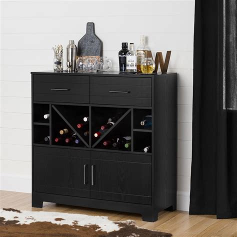 bar armoire cabinet south shore vietti bar cabinet with bottle storage and