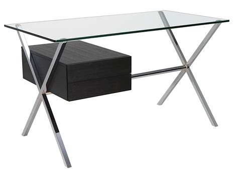 Xavier Desk xavier desk chrome black ash modern digs furniture