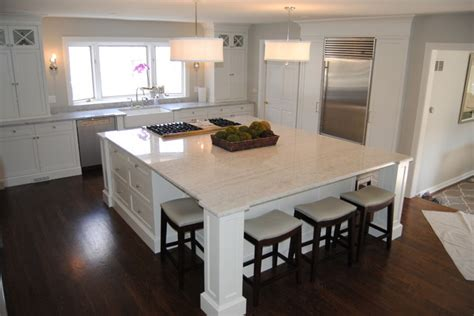 Kitchen Island Cart ice quartz and super white extra kitchen for a balance of