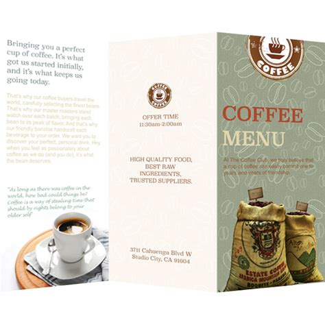 menu template publisher menu templates sles menu maker publisher plus