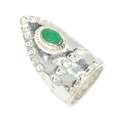925 sterling silver jade archer ring