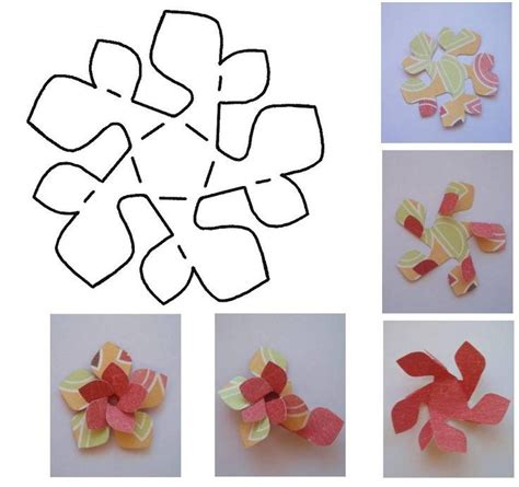 Folded Paper Craft - folded paper flower template folded paper flower template