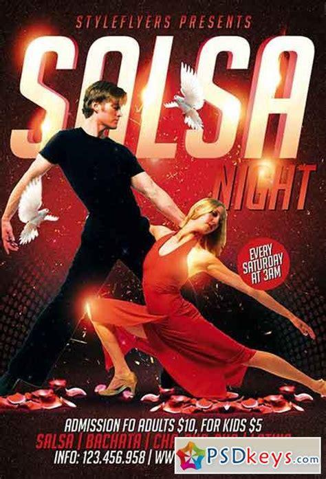 template flyer salsa salsa night psd flyer template facebook cover 187 free