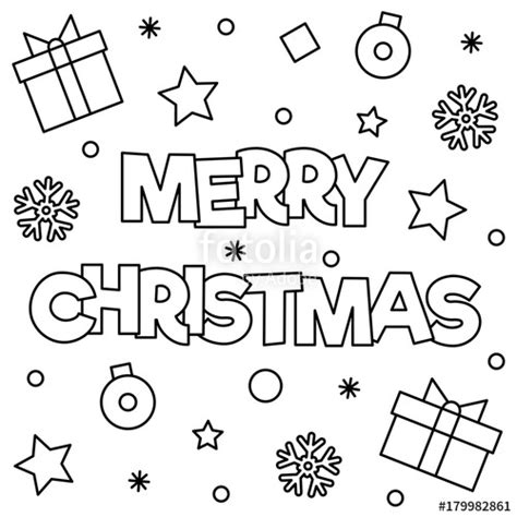 imagenes que digan merry christmas quot merry christmas coloring page vector illustration