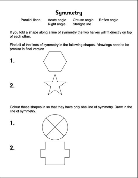 Rotational Symmetry Worksheets by Symmetry Tandrageemaths