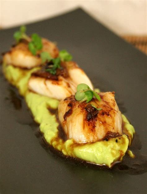 thepassionatecook seared scallops  lime miso