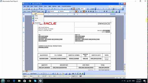 bi publisher template builder oracle bi publisher template builder for word