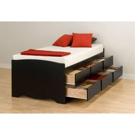 prepac storage bed prepac sonoma twin wood storage bed bbt 4106 k the home depot