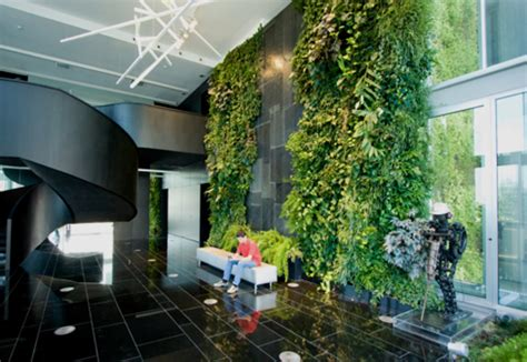 Indoor Wall Natura Towers By Vertical Garden Design Interior Wall Garden