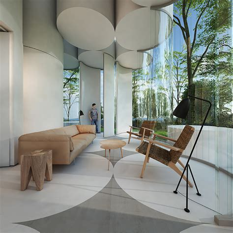 beautiful interior designs with glass tubing and glass rod the cylinder house by town and concrete ignant com