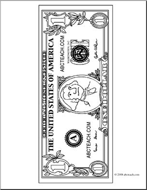 coloring page 5 dollar bill hundred dollar bill coloring page alltoys for