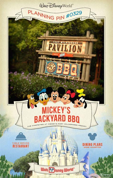 walt disney world planning pins mickey s backyard bbq