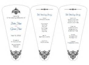 Wedding Fan Program Template by Discover And Save Creative Ideas