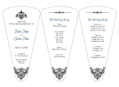 fan template for wedding program discover and save creative ideas