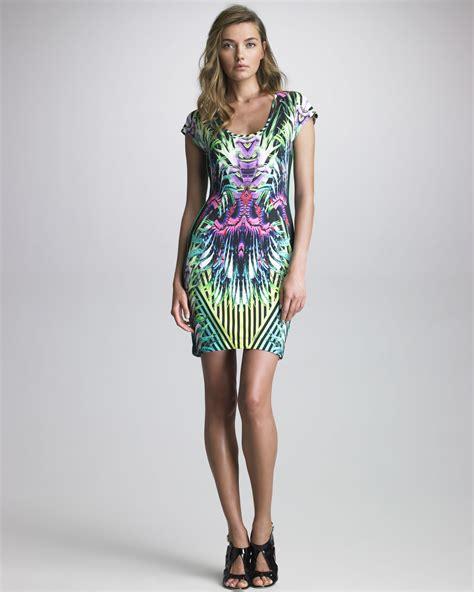 Cavali Dress just cavalli printed scoopneck dress lyst