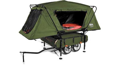 Tenda Outdoor Tenda Cing Tenda Original Hillman Turtle 4 Kap 4 you can pull the world s smallest pop up cer with your bike gizmodo australia